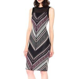 Rachel Roy Metallic Chevron Sweater Dress Size XS